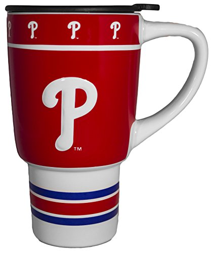 Philadelphia Phillies 15oz Sculpted Ceramic Travel Mug ()