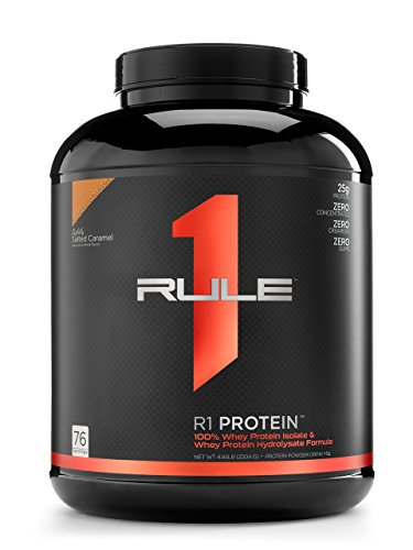 Cheap R1 Protein Whey Isolate/Hydrolysate, Rule 1 Proteins (76 Servings, Lightly Salted Caramel)