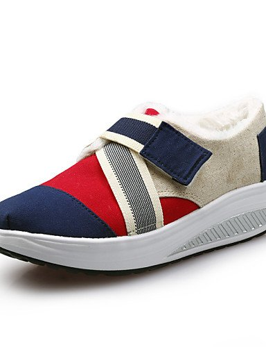 Zapatos de mujer taco cuña cuñas plataforma/lona/cuna zapatos moda Zapatillas oficina y