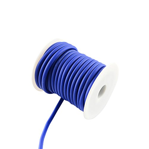 ARRICRAFT 1 Roll 10m/roll 5mm Silicone Cord Rubber Cord for Bracelet Necklace Making with 3mm Hole, Wrapped Around White Plastic Spool ()