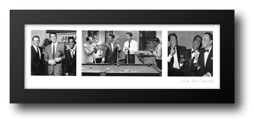 The Rat Pack (slim) 40x16 Framed Art Print - Rat Pack Artwork