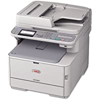 Oki MC362W LED Multifunction Printer - Color - Plain Paper Print - Desktop - Copier/Fax/Printer/Scanner - 25 ppm Mono/23 ppm Color Print - 1200 x 600 dpi Print - 25 cpm Mono/23 cpm Color Copy LCD - 1200 dpi Optical Scan - Automatic Duplex Print - 350 sheets Input - Fast Ethernet - Wireless LAN - USB