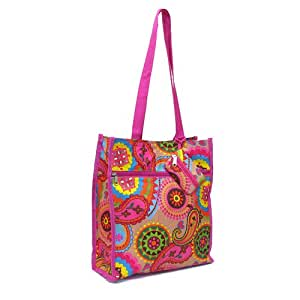 Reto Pink Paisley Shopping / Tote or Diaper Bag