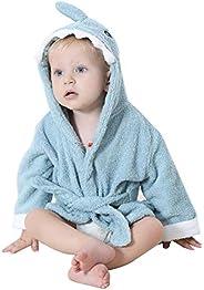 Insun Absorbent Soft Organic Cotton Unisex Newborn Baby Robe with Hood