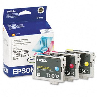 Epson Color Multi-pack Ink Cartridges (TO60520) - T060520 (T060520 Pack Multi)