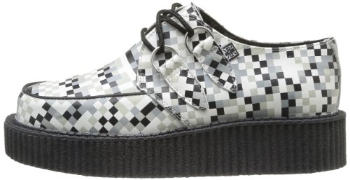 Mondo black white Creepers Basses Print grey Homme Tuk Chaussures Noir Lo Digi dqd0S