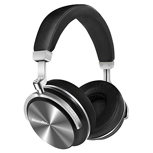 Bluedio T4S Active Noise Cancelling Headphones, Wireless Headset with Hi-Fi Stereo,Soft Memory-Protein Earmuffs,Built in Microphone and Wired Mode for Phone(Black)
