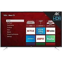 "TCL 50S423 50"" 4K UHD HDR Roku Smart LED TV (Renewed)"