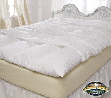 Pacific Pillows Queen Size Zippered Featherbed Cover - 60 x 80
