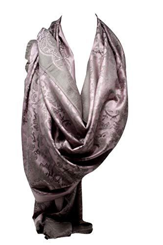 047d38ffcf4 Ethnic Floral Print Quality Two Sided Self Embossed Pashmina Feel Wrap  Scarf Stole Scarves Shawl (