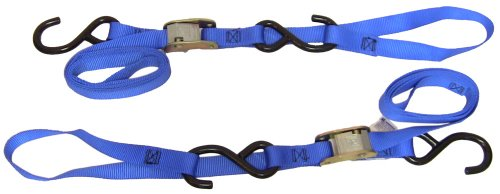 Ancra 49380-12-03 Blue Integra Soft Hook Cam Buckle Tie Down, 6 Pack