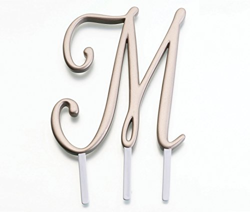 Lillian Rose Monogram Cake Topper Letter M Gold]()