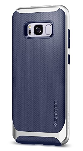 Price comparison product image Spigen Neo Hybrid Galaxy S8 Plus Case Herringbone with Flexible Inner Protection and Reinforced Hard Bumper Frame for Galaxy S8 Plus (2017) - Arctic Silver