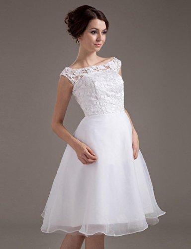 Dresses Sleeveless Dearta Ivory Women's Bateau Length A Knee Line Wedding r8vqI1B8