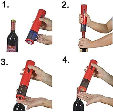 Party Electric Wine Opener Abrebotellas rápido Set de regalo de sacacorchos eléctrico profesional recargable de acero inoxidable con cortador de aluminio, tapón de vino y vertedor (con adaptador)