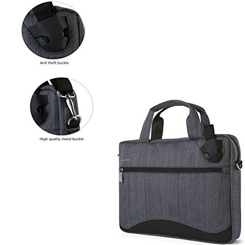 Causal Laptop Shoulder Bag Sleeve Pouch Messenger Bag Briefcase 15.6'' to 17.3'' for Dell Alienware 17 / HP Envy x360 / EliteBook / Aspire V Nitro / Pavilion / Omen 15 / Envy 15z / Pavilion 17t by Vangoddy