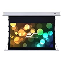 Elite Screens 100-Inch (16:9) ETB100HW2-E8 Evanesce Tension B Series in Ceiling Electric Screen with IR, RF Remote, 3 Way On-Wall Switch, Accommodates Both US and EU Installations, 100-Inch (16:9)