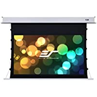 Elite Screens Evanesce Tab-Tension B, 120-inch 16:9, 4K/8K HD Ready, Recessed In-Ceiling Electric Tab Tensioned Projector Screen, Matte White Projection Screen Surface, ETB120HW2-E8