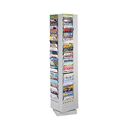 92-Pocket Steel Rotary Magazine Rack Gray electronic consumers ()