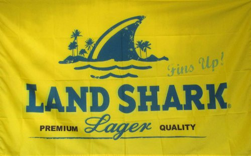 NEOPlex 3' x 5' Premium Beer Flag - LAND SHARK Lager
