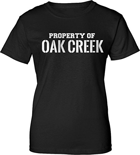 Property Of Oak Creek Womens Ladies Black T Shirt E2 3X
