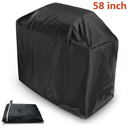 Starlotus BBQ Grill Cover, 58-inch Black Waterproof Weather Resistant Heavy Duty BBQ Gas Grill Cover,Internal Silver Layer and UV Resistant Material, Durable and Convenient (L) Review