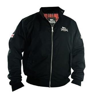 Lonsdale London Slim Fit Harrington Jacket Acton schwarz 0a95045517f