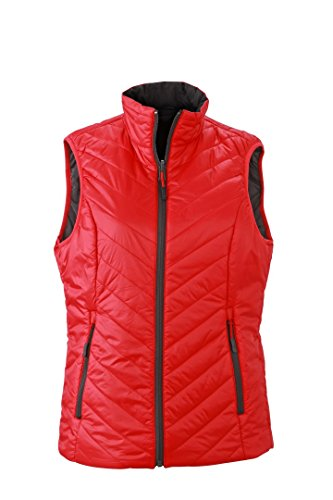 amp; red Gilet James Nicholson JN1089 Carbon Vest Women's S Padded Lightweight 1naqdxW