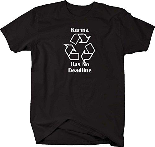 Karma Has No Deadline Recycle Logo T shirt - (Black Karma Apparel)