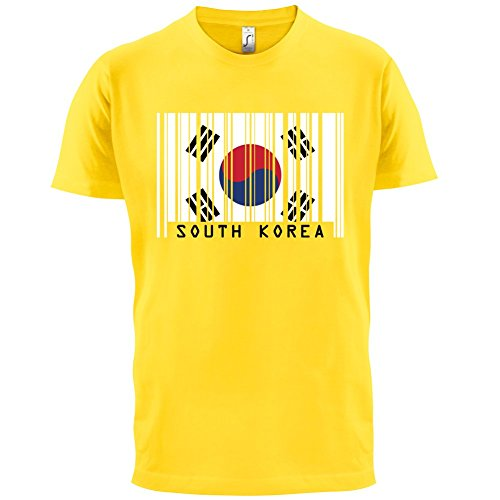 South Korea / Südkorea Barcode Flagge - Herren T-Shirt - Gelb - S