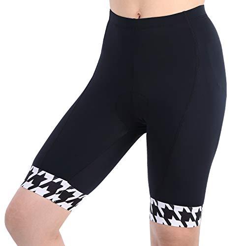(beroy Women Trisuit Cycling Shorts,4D Thin Padded Bike Shorts Underwear(L White))