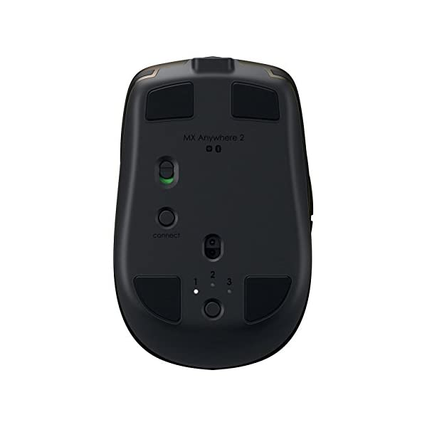 Logitech MX Anywhere 2 Wireless Mobile Mouse – Track on Any Surface, Bluetooth or USB Connection, Easy-Switch up to 3…