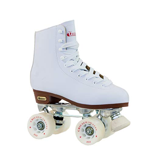 Chicago Women's Leather Lined Rink Roller Skate (Size 9), White (Renewed) ()