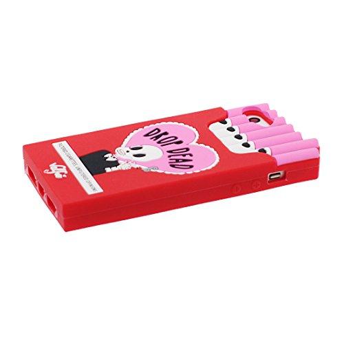 iPhone 5 Coque, [ 3D Boîte à cigarettes TPU Material Flexible ] Housse Étui pour iPhone 5C 5G, iPhone 5S Case, Crâne Dust Slip Scratch Resistant, iPhone SE Cover shell & Bouchon anti-poussière