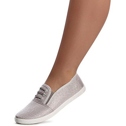 Femmes Femmes Chaussures Ballerines Chaussures Topschuhe24 Argent Topschuhe24 OgTxzztn