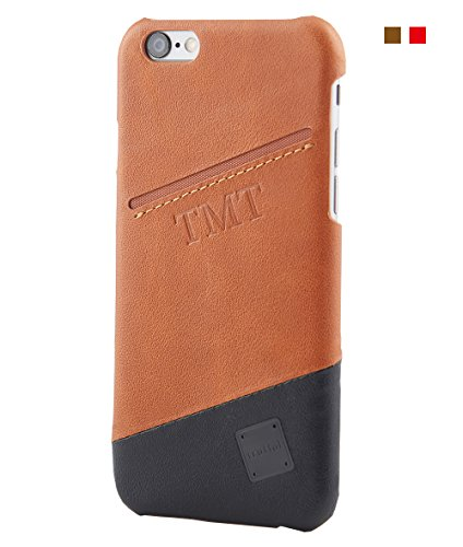Arno Leather - Vintage Brown Two Tone iPhone Wallet Case, Truffol Voyage for iPhone 6s / 6 (4.7