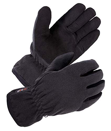 SD8661T/L - SKYDEER Winter Driving Gloves with Soft Premium Genuine Deerskin Suede Leather and Warm Windproof Polar Fleece