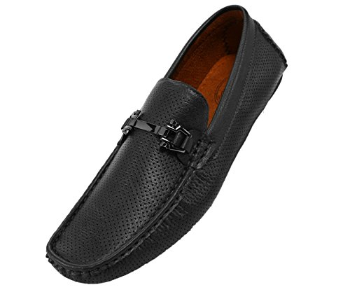 Amali The Original Mens Perforated Smooth Driver, Comfortable Loafer Shoe, Casual Driving Moccasin, Style Nolan