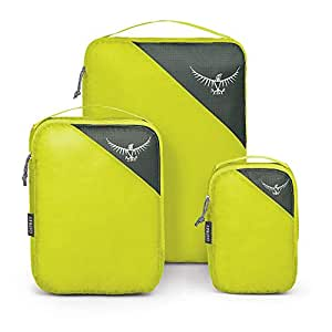 Osprey Packs Ultralight Packing Cube Set, Electric Lime, S/M/L 5-726-2