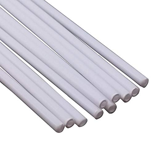 - 10x OD 2mm x 250mm ABS Styrene Plastic Round Tube Pipe Diameter White
