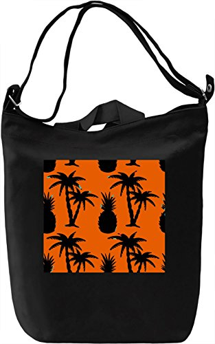 Palms and Pineapple Print Borsa Giornaliera Canvas Canvas Day Bag| 100% Premium Cotton Canvas| DTG Printing|