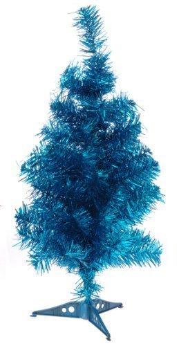 Albero Di Natale 50 Cm.Argento Albero Blu Colorati Natale Fancy 50 Cm Albero Di