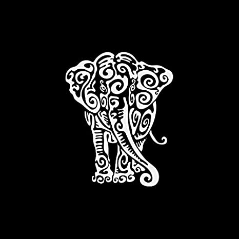 Amazon.com: Decal Stickers Elephant Tribal Tattoo Design ...