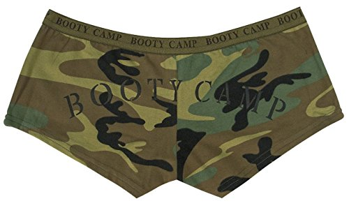 Woodland Camo Womens Booty Camp - 3