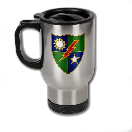 Rangers Coffee Mug (Stainless Steel Coffee Mug with U.S. Army 75th Ranger Regiment (Airborne) insignia)