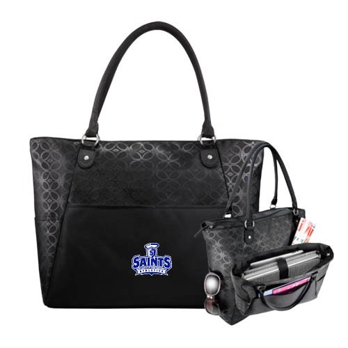 OLLU Sophia Checkpoint Friendly Black Compu Tote 'Our Lady of the Lake University Athletics - Offical Logo' by CollegeFanGear