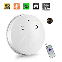 8GB Hidden Camera Smoke Detector Motion Detection Activated Audio Recording Digital Video Recorder Mini DV Camcorder