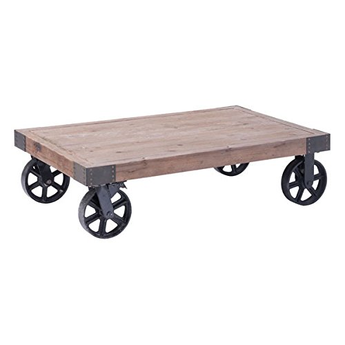 Zuo Barbary Coast Coffee Table, Distressed Natural