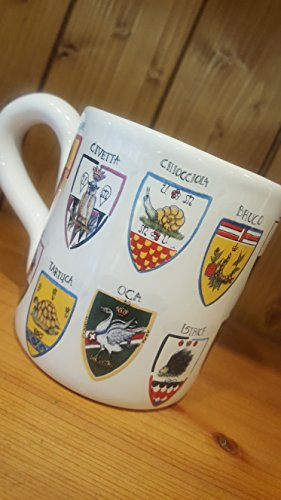 17 Crest Mug. Mug with the typical decoration of the Contrade of the Palio di Siena.