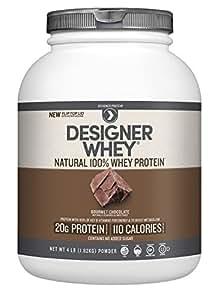 Designer Whey Premium Natural 100% Whey Protein, Gourmet Chocolate, 4 Pound